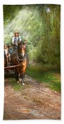 Country - Horse - The Hay Ride  Beach Towel