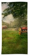 Country - The Crops Almost Ready  Beach Towel