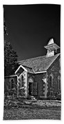 Country Church Monochrome Beach Towel