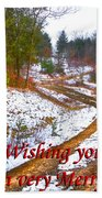 Country Lane Holiday Card Beach Towel