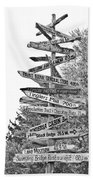 Country Places Beach Towel