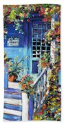 Country Porch And Flowers By Prankearts Beach Towel