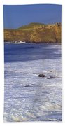 County Antrim, Ireland Seascape With Beach Towel