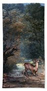 Courbet: Hunted Deer, 1866 Beach Towel