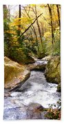 Courthouse River In The Fall 2 Beach Towel