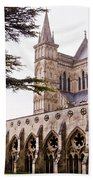 Courtyard Salisbury Cathedral - England Beach Towel