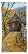 Covered Bridge 04 Beach Towel