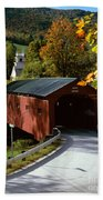 Covered Bridge In Vermont Beach Towel