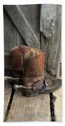 Cowboy Boots With Spurs Beach Sheet