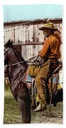 Cowboy, C1900 Beach Towel
