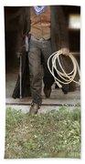 Cowboy With Guns And Rope Beach Sheet