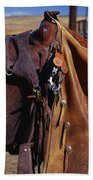Cowboys Saddle And Chaps Detail Beach Towel