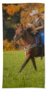 Cowgirl Beach Towel by Susan Candelario