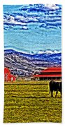 Cows Pasture Barns Superspecialeffect Beach Towel