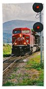 Cp Coal Train And Signal Beach Towel