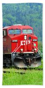 Cp Coal Train Beach Towel
