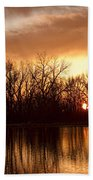 Crane Hollow Sunrise Before The Storm Beach Towel