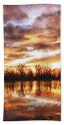 Crane Hollow Sunrise Boulder County Colorado Hdr Beach Towel