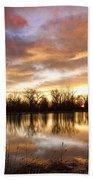 Crane Hollow Sunrise Boulder County Colorado Beach Towel