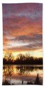 Crane Hollow Sunrise Reflections Beach Towel