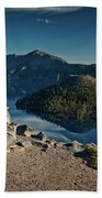 Crater Lake Afternoon Beach Towel