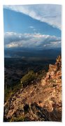 Crater Lake Mountains Beach Towel