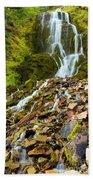 Crater Lake Waterfall Beach Towel