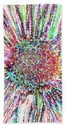 Crazy Daisy Colored Pencil Photoart Beach Towel