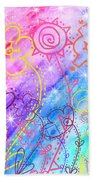 Crazy Flower Garden Beach Towel