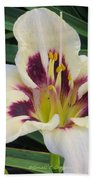 Creamy White Lily Beach Towel