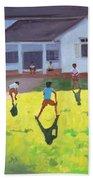 Cricket Beach Towel by Andrew Macara