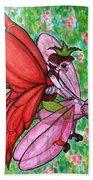 Crimson Wings Beach Towel