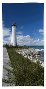 Crisp Point Lighthouse 10 Beach Towel
