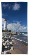 Crisp Point Lighthouse 11 Beach Towel