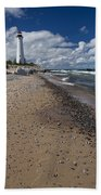Crisp Point Lighthouse 14 Beach Towel