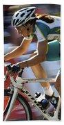 Criterium Bicycle Race 2 Beach Towel