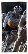 Criterium Bicycle Race 5 Beach Towel