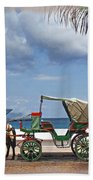 Waiting For Customers Beach Towel