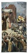 Crusades: Peter The Hermit Beach Towel