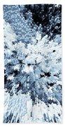 Crystal Flowers Beach Towel