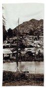 Crystal Lake And Black Butte - California - C 1865 Beach Towel