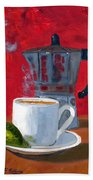 Cuban Coffee And Lime Red R62012 Beach Towel