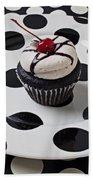 Cupcake With Cherry Beach Towel