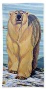 Curiosity - Polar Bear Painting Beach Towel