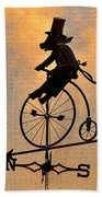 Cycling Pig Beach Towel