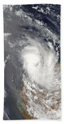 Cyclone Dominic Off The Shore Beach Towel