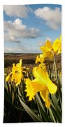 Daffs On Dartmoor Beach Towel