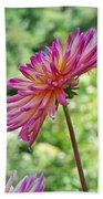 Dahlia Flower Art Print Green Summer Garden Beach Towel