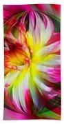 Dahlia Flower Energy Beach Towel