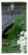 Stone Bridge Daisies Beach Towel